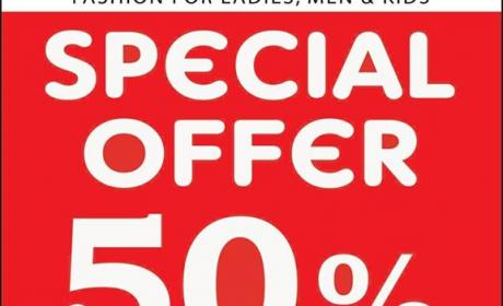 Up to 50% Sale at Style Studio, June 2017