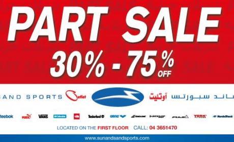 30% - 75% Sale at Sun & Sand Sports, July 2014