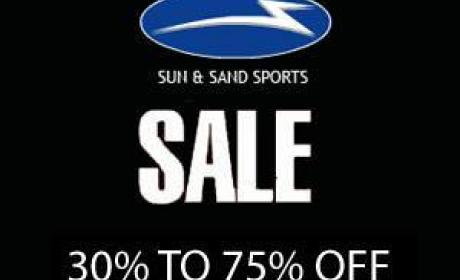 30% - 75% Sale at Sun & Sand Sports, September 2014