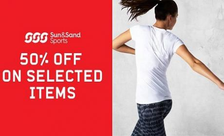Up to 50% Sale at Sun & Sand Sports, December 2015