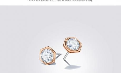 Spend 1100 And  Receive a pair of Hexagonal Pierced Earrings Offer at Swarovski, March 2018