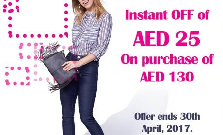Spend 130 and get Instant OFF of AED 25 Offer at Tati, April 2017