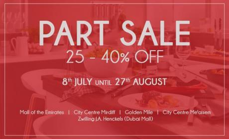 25% - 40% Sale at Tavola, August 2016