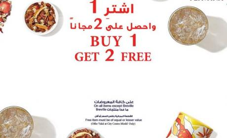 Buy 1 and get 2 Offer at Teavana, February 2018