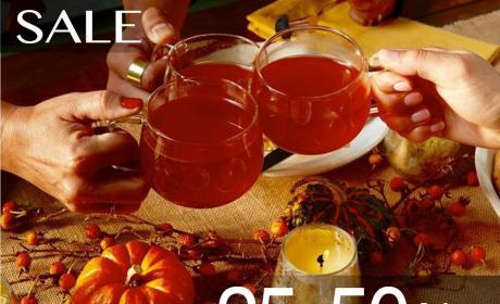 25% - 50% Sale at Teavana, December 2017