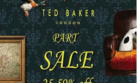 25% - 70% Sale at Ted Baker, June 2016