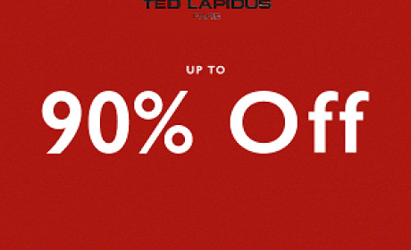Up to 90% Sale at TED LAPIDUS, August 2017