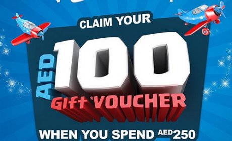Spend 250 and get AED 100 gift voucher Offer at The Toy Store, November 2017
