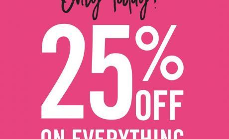Up to 25% Sale at Victoria's Secret, June 2018