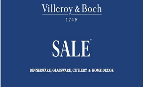 30% - 50% Sale at Villeroy & Boch, August 2017