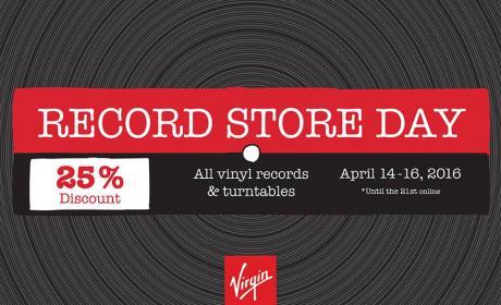 Up to 25% Sale at Virgin Megastore, April 2016