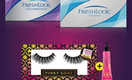 Buy 2 and get an amazing Pinky Goat lashes pack free! Offer at Vision Express, June 2017