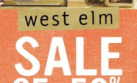 25% - 50% Sale at WEST ELM, April 2017