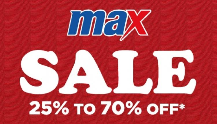 25% - 70% Sale at Max, January 2016