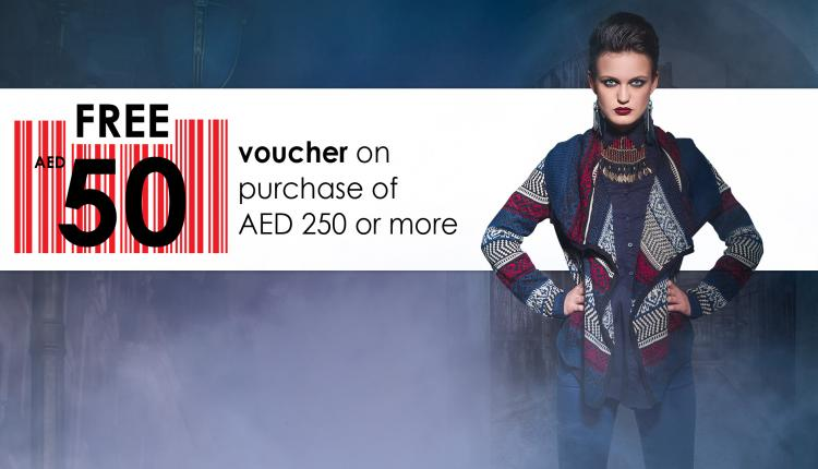 Spend 250 and get a 50 AED voucher Offer at Red Tag, November 2014