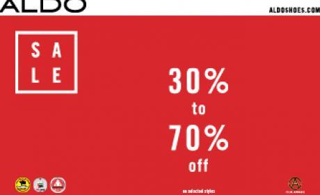 30% - 70% Sale at Aldo, January 2016