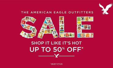 25% - 50% Sale at American Eagle Outfitters, February 2016