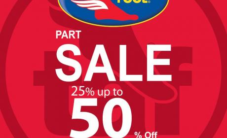 25% - 50% Sale at The Athlete's Foot, December 2014