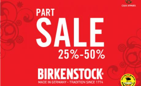 25% - 50% Sale at Birkenstock, February 2015
