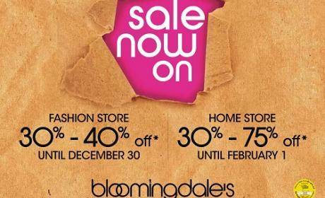 30% - 40% Sale at Bloomingdale's, December 2015