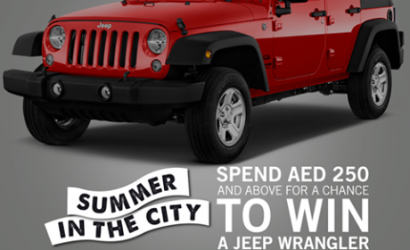 Spend 250 for a chance to win a 2016 JEEP WRANGLER!!! Offer at Dubai Festival City, August 2016