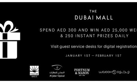 Spend 300 and win AED 25,000 weekly and 250 instant prizes daily Offer at The Dubai Mall, February 2016