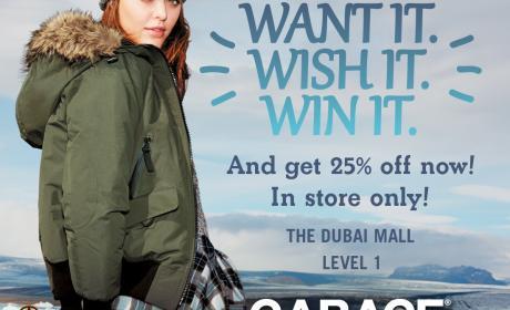 Up to 25% Sale at Garage, December 2014