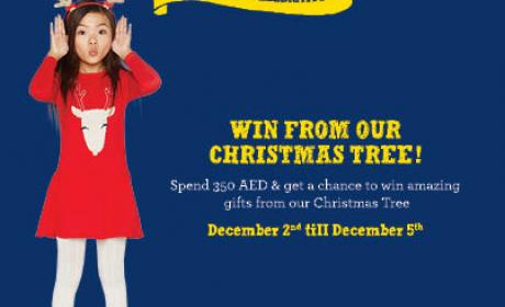 Spend 350 and get a chance to win amazing surprises Offer at Gymboree, December 2015