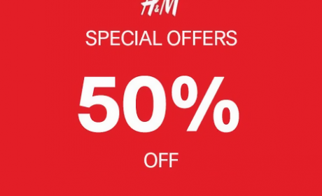 Up to 50% Sale at H&M, April 2016