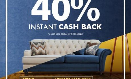 Spend 1500 and get 40% Instant cash back Offer at Home Box, July 2017