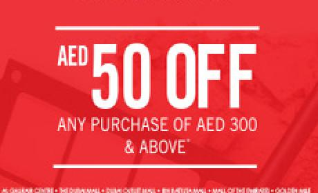 Spend 300 and receive AED 50 off Offer at Inglot, April 2016