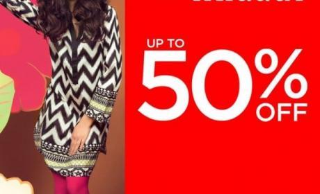 30% - 50% Sale at Khaadi, May 2017