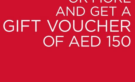 Spend 699 and get a gift voucher worth AED 150 Offer at Kurt Geiger, November 2015