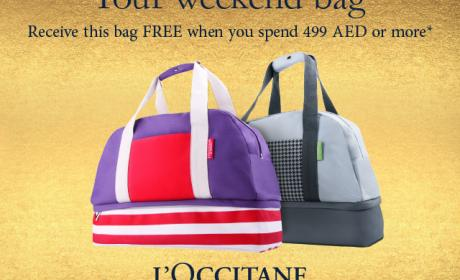 Spend 499 and receive a bag FREE Offer at L'occitane, January 2016