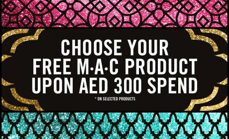 Spend 300 And Choose your free M·A·C product Offer at MAC, June 2017