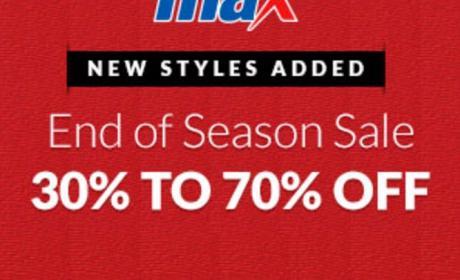 30% - 70% Sale at Max, May 2017