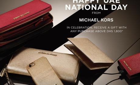 Spend 1800 and receive a gift Offer at Michael Kors, December 2015