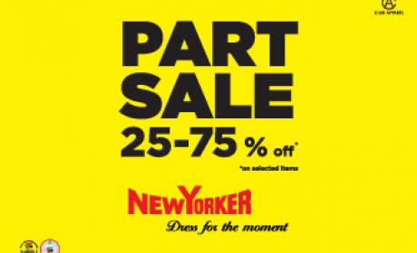 25% - 75% Sale at New Yorker, April 2016