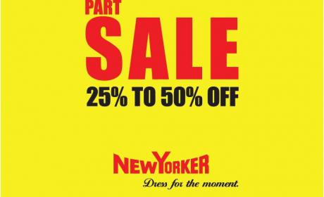 25% - 50% Sale at New Yorker, January 2017