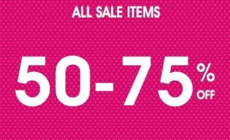 50% - 75% Sale at Oasis, November 2014