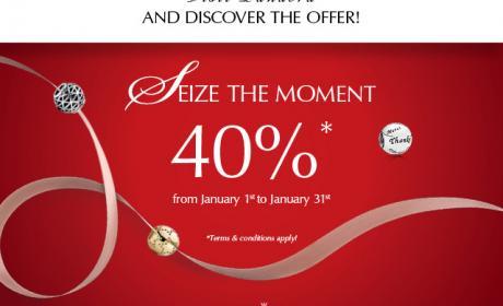Up to 40% Sale at Pandora, January 2015