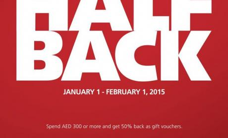 Spend 300 and get 50% back as gift vouchers. Offer at Rivoli EyeZone, February 2015