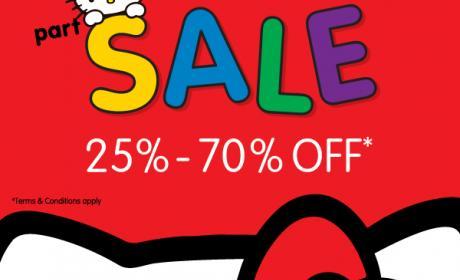 25% - 70% Sale at Sanrio, January 2015