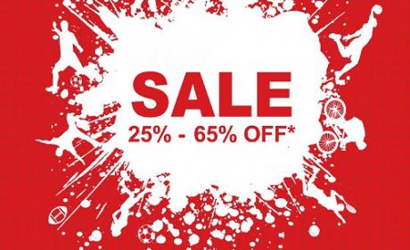 25% - 65% Sale at Sun & Sand Sports, February 2016
