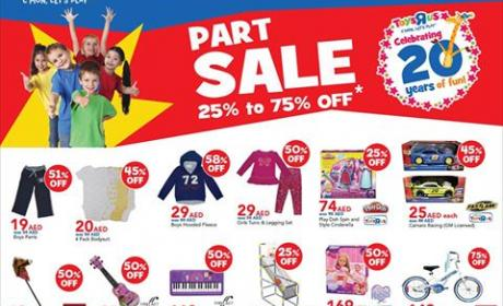 25% - 75% Sale at Toys R Us, February 2015