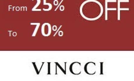 25% - 70% Sale at Vincci, February 2016